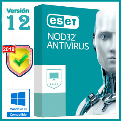 Antivirus Eset Nod32 2019 For 1 PC 2 Years Windows / Mac Fast Shipping