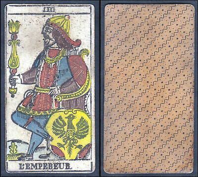 Original 18th century playing card carte a jouer Spielkarte Tarot L'Empebeur