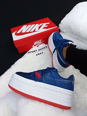 ab7a5aaa1eb5 SIZE 8.5 WOMEN S Nike Vandal 2X 2K Double Stack PLATFORM BLUE GYM AO2868 400