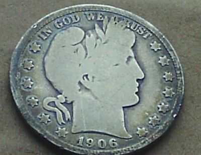 1906 0 Barber Half 50 Cents Silver