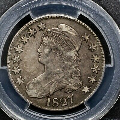 1827 Capped Bust Half Dollar Overton O-114 - PCGS VF35 -Sq. Base 2-CAC Certified