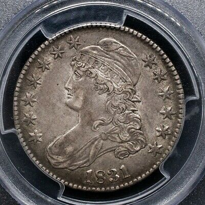 1831 Capped Bust Half Dollar Overton O-101 - PCGS AU50 - CAC Certified