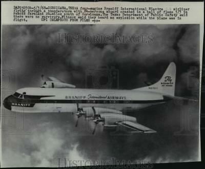 1968 Press Photo Four-Engine Braniff International Electra Jet Airliner
