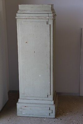 Antique Swedish Gustavian painted statue pedestal column sculpture stand 1800's
