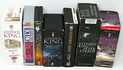 Lot of 7 Books on Cassette Audio Stories by Stephen King