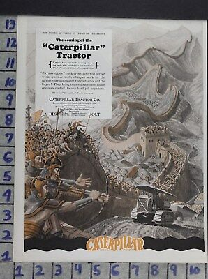 1927 Caterpillar Best Holt Agriculture Farm Tractor Machinery Vintage Ad Dw71