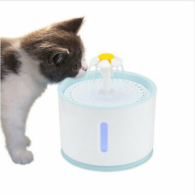 2.4L Automatic Pet Water Fountain LED Electric USB Dispenser Drinker For Cat Dog