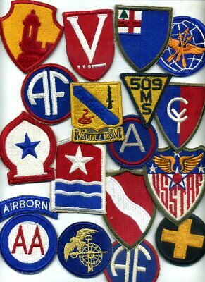 VINTAGE US MILITARY Lot of 15+ US Army Patches & Insignia