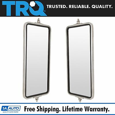 West Coast Mirror 16x7 Stainless Steel Pair Set for Commercial Heavy Duty Truck