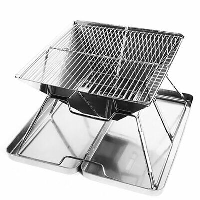 Stainless Steel Portable Barbecue Grills Foldable Grill Smoker Box for Outd 4A