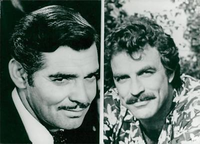 Portrait of actors Clark Cable and Tom Selleck - Vintage photo