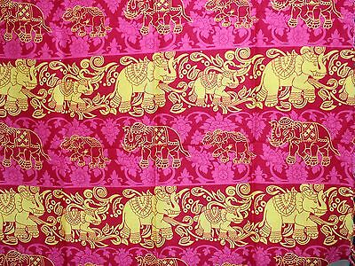 Sarong  Pink And Yellow Elephant Design Just Arrived Style 40/0317