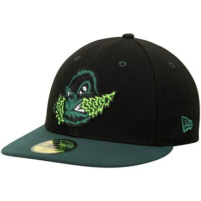 1720e9df868 Eugene Emeralds New Era Authentic Road 59FIFTY Fitted Hat - Black Green