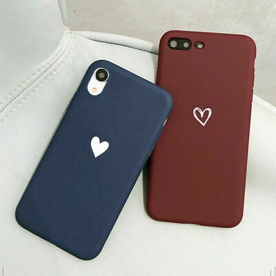For iPhone 8 7 6S Plus XR XS MAX Case Shockproof Soft Phone Cover TPU Silicone
