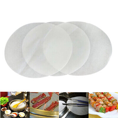 40pcs Silicone Greaseproof Paper Sheets Non-Stick Round Baking Papers Mat 2 Size