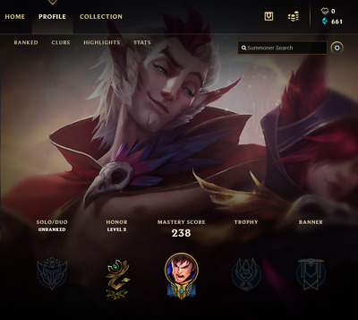 League of Legends Account | LOL | NA | UNRANKED | 64 Champ 13 skins - SALE !