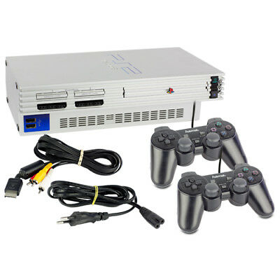 Playstation 2 / PS2 Konsole Fat in Silber + 2 ähnliche Controller + alle Kabel