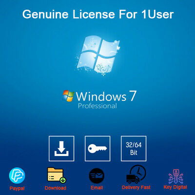 Windows 7 Professional 32/64bit Download Product Activation Genuine