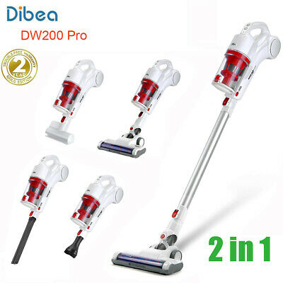 Dibea DW200 Pro 2 in 1 Cordless Handheld Stick Vacuum Cleaner 17KPa Suction 250W