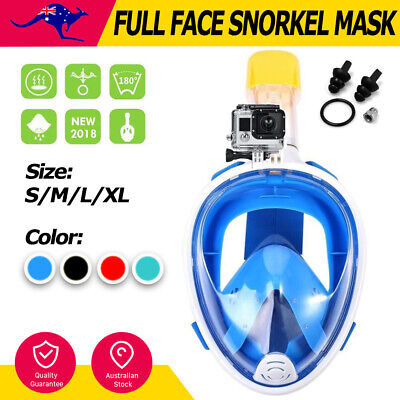 Full Face Snorkel Mask Swimming Snorkeling Goggles for Adults and Kids GoPro