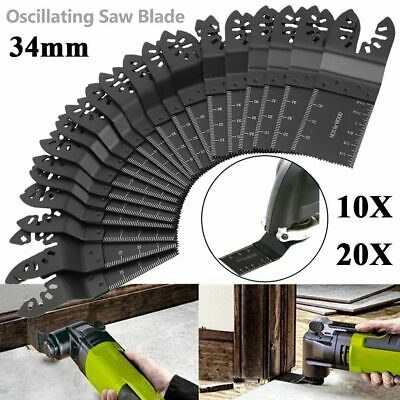 1/10/20Pcs 34mm Carbon Steel Multi Tool DIY Oscillating Saw Cut Blade For Metal