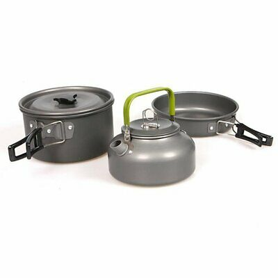 Cutlery Outdoor Camping Set Pot Teapot Combination 2-3 Person Set Tablew VH