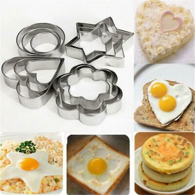 Stainless Steel Cookie Plunger Biscuit Cutter Baking Mould EH7E