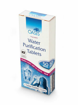 50 Oasis Water Purification Purifying Cleansing Cleaning Treatment Tablet JW.ORG