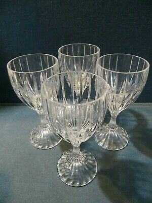 "4 MIKASA Crystal Wine Glasses PARK LANE Stems  MADE IN GERMANY  6 3/8""Tall"