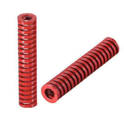 8mm OD 40mm Long Spiral Stamping Middle Load Mould Die Spring Red 2Pcs