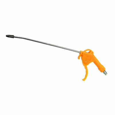 Air Blow Gun , with 11-Inch Long Angled Nozzle 1/4PT Removable Rubber Tip Yellow