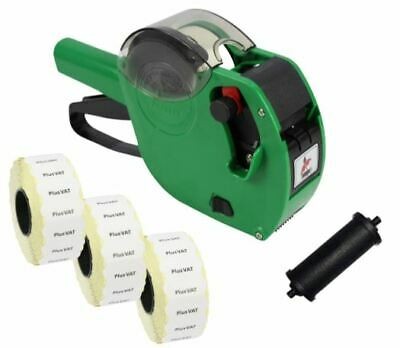 Panther PL-2612 6 Digit Pricing Gun with 4,500 'Plus VAT' Labels + Spare Ink