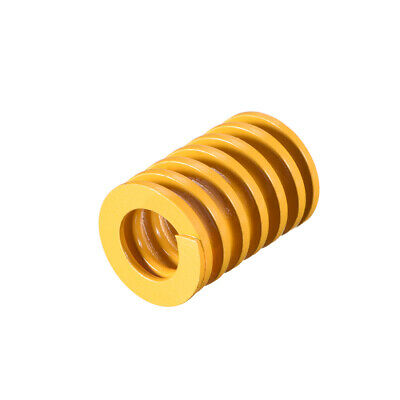 18mm OD 25mm Long Spiral Stamping Light Load Compression Mould Die Spring Yellow