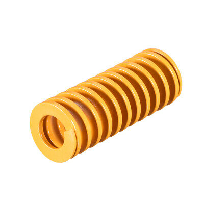 22mm OD 55mm Long Spiral Stamping Light Load Compression Mould Die Spring Yellow