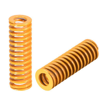 10mmx30mm Spiral Stamping Light Load Compression Mould Die Spring Yellow 10 Pcs