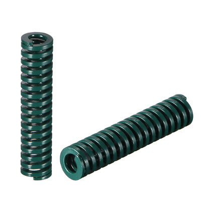 10x 45mm Long Spiral Stamping Heavy Load Compression Mould Die Spring Green 2Pcs