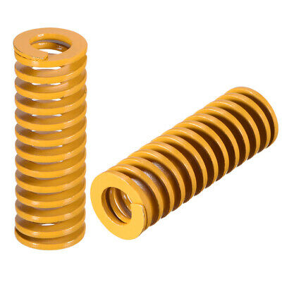 14mmx40mm Spiral Stamping Light Load Compression Mould Die Spring Yellow 5Pcs