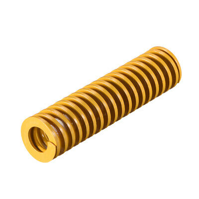 18mm OD 70mm Long Spiral Stamping Light Load Compression Mould Die Spring Yellow