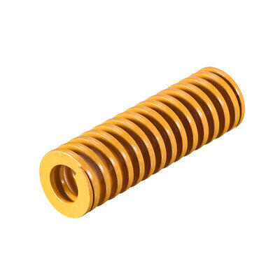 16mm OD 50mm Long Spiral Stamping Light Load Compression Mould Die Spring Yellow
