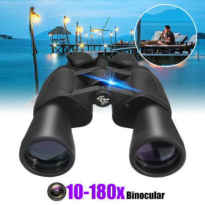 AU 50mm Tube 10x-180x100 Zoom Night Vision HD Binoculars Hunt Telescope Outdoor