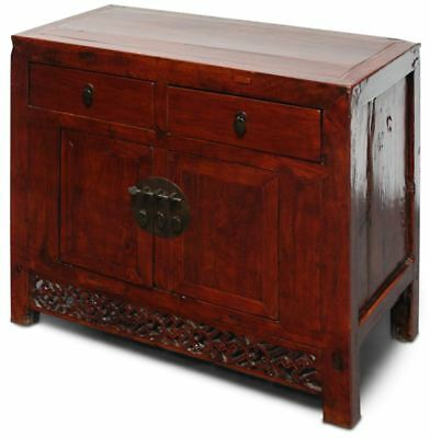 Asiatische Kommode in Braun (95 cm) - China Sideboard Ulmenholz - AsienLifeStyle