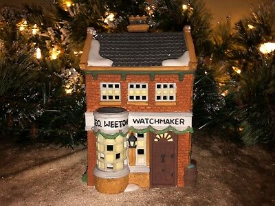"Dept 56 Heritage Vill. Collection Dickens"" Village Series ""Geo Weeton Watchmaker"