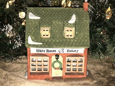 "Dept 56 Heritage Village Collection Dickens Village Series ""White Horse Bakery"""
