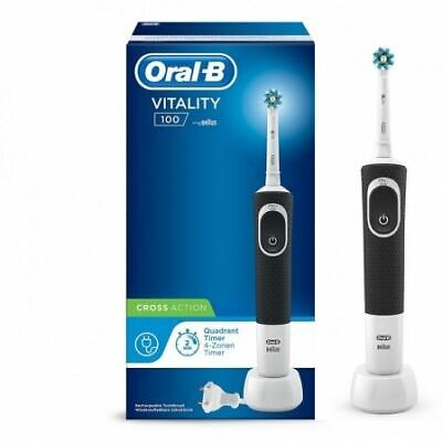 Cepillo Dental Braun Oral-B Vitality D100 Crossaction Negro  - Filamentos Inclin