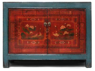 Asiatische Kommode Türkis 122 cm - Antik-Look Sideboard China - AsienLifeStyle