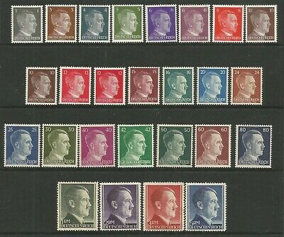 GERMANY THIRD REICH 1941-1944 HITLER HEADS TO 5 rm UNMOUNTED MINT MNH