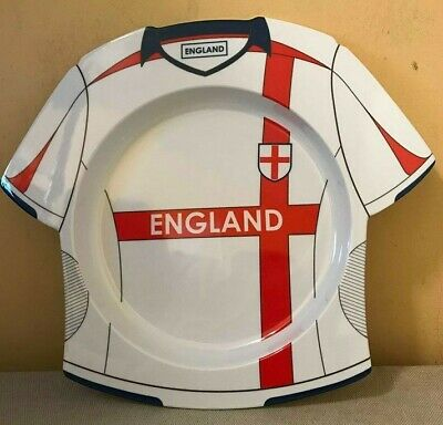 48 Melamine Kids England Football Shirt Plates Soccer Teams Parties Shops Cafes