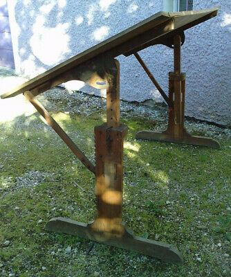 ancienne table a dessin sapin 19 e ? antique drafting table