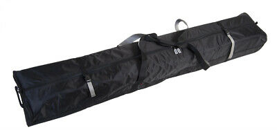FULLY PADDED DOUBLE SKI BAG W/WHEELS - 190cm - Black