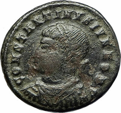 CONSTANTINE II Jr. Constantine the Great son Ancient Roman Coin CAMP GATE i76668